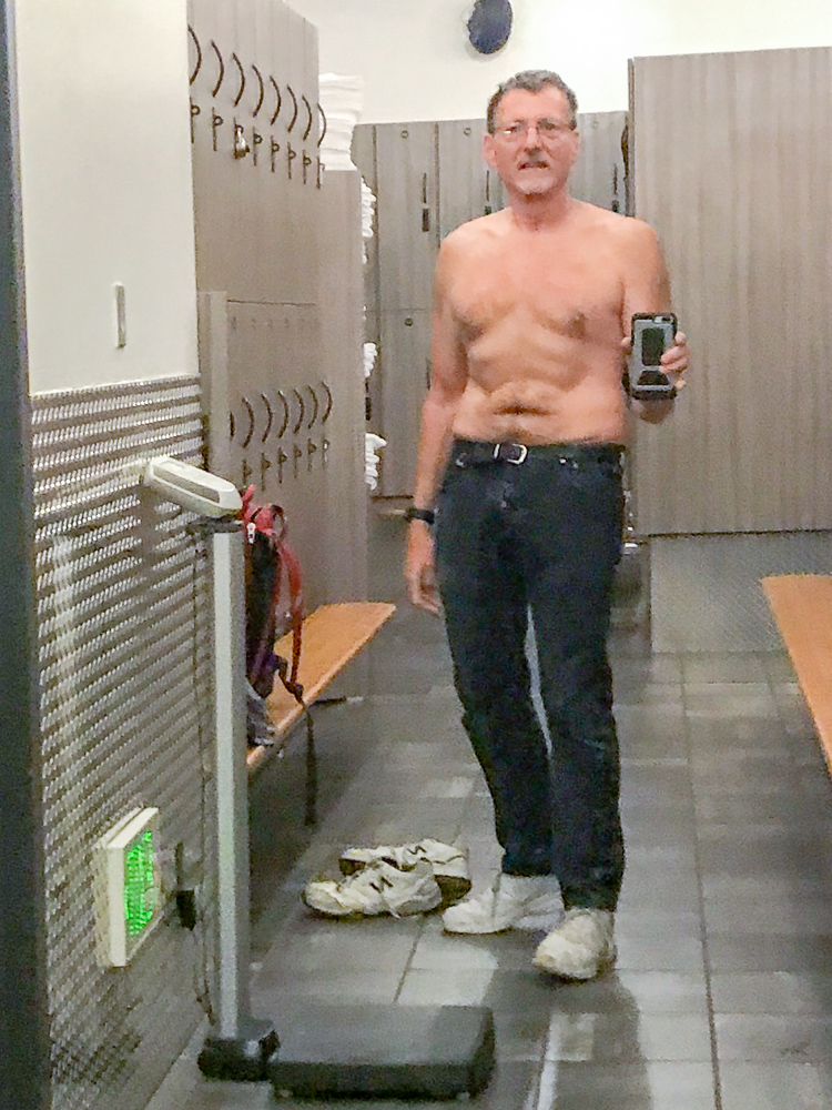 Galen in the Fitness SF locker room