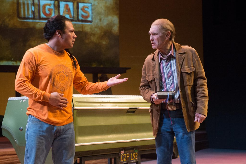 Tony Sancho (Martín Jodes) abd Mark Murphey (William Joad), Photo by Jenny Graham, Oregon Shakespeare Festival.