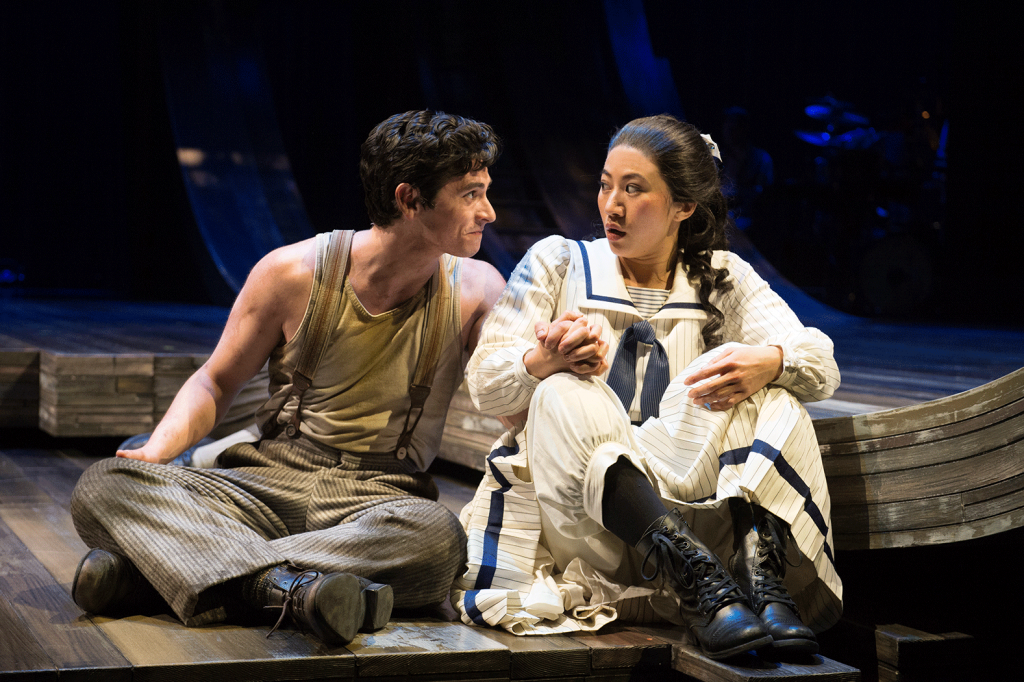 Peter and the Starcatcher (2020): Preston Mead (Boy), Grace Chan Ng (Molly). Photo by Jenny Graham, Oregon Shakespeare Festival.