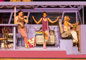 Rudy Guerrero* as Tick, Charles Peoples III as Adam, and Darryl V. Jones* as Bernadette in PRISCILLA, QUEEN OF THE DESERT