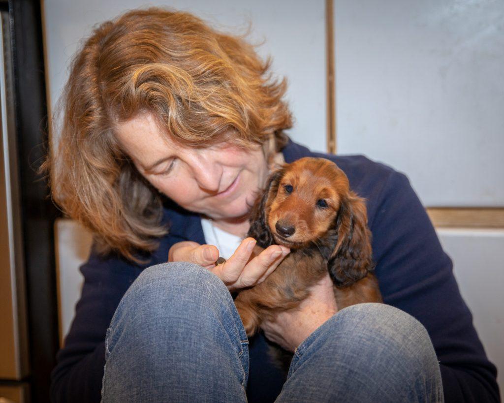 Wendy Hess holds Aurora