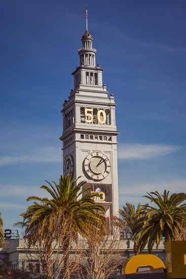 Ferry Building from Super Bowl City
