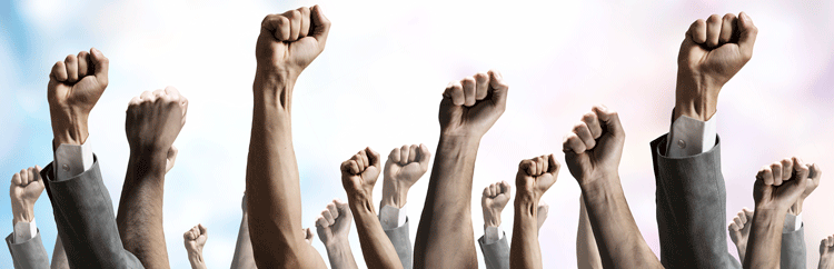Fists Raised in Protest