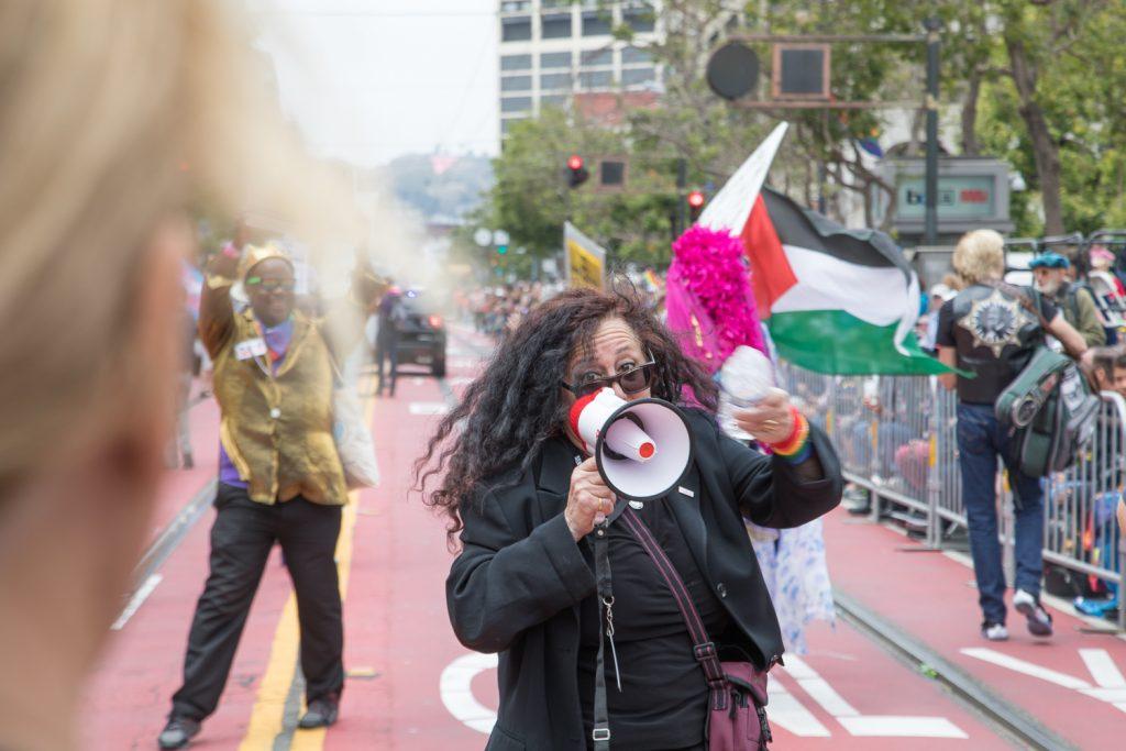 Pride Vice President Melanie Nathan on Market Street