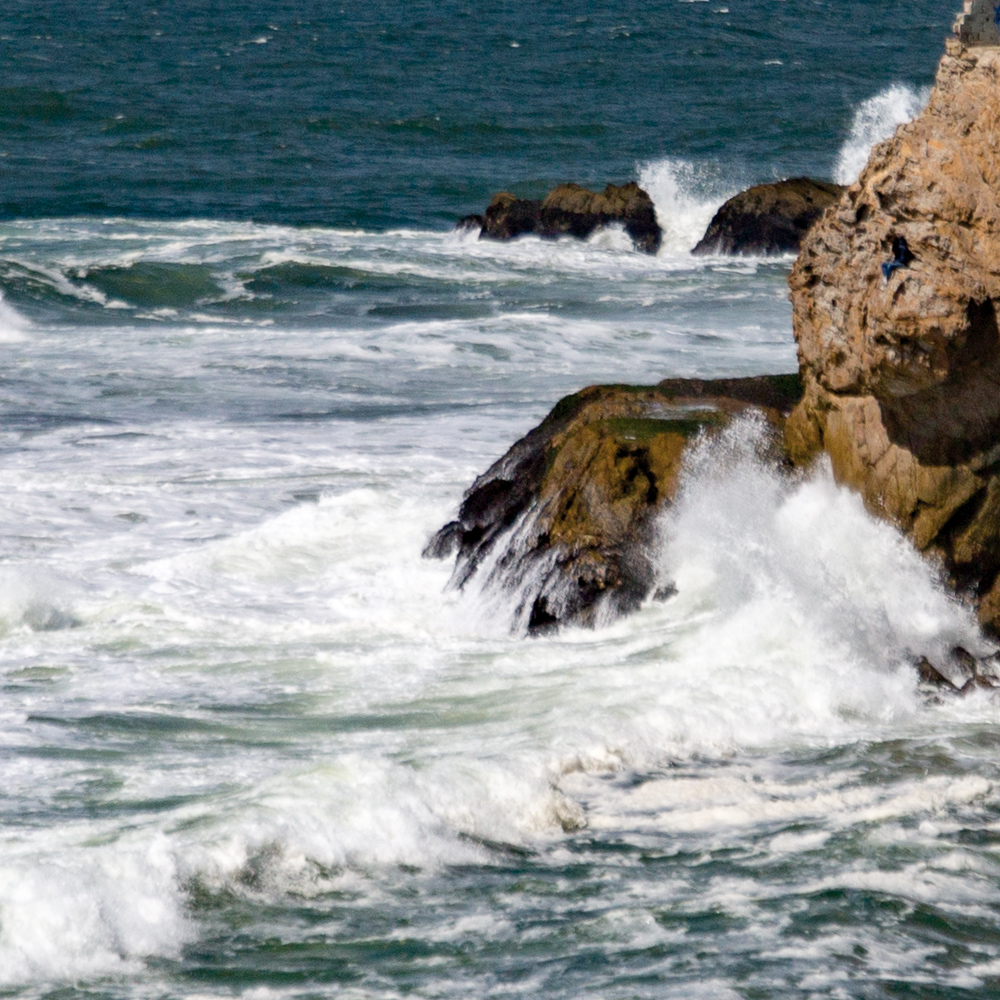 surf by Sutro Baths.